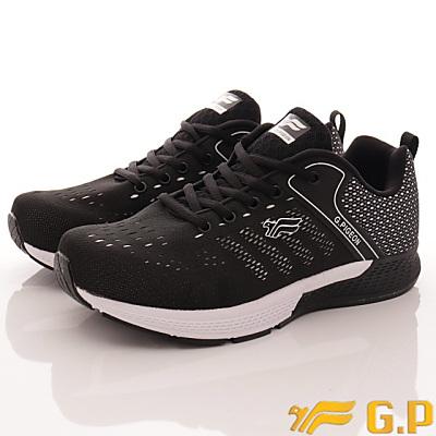 GP時尚潮流-輕量彈力運動鞋款-FI798M-10黑(男段)