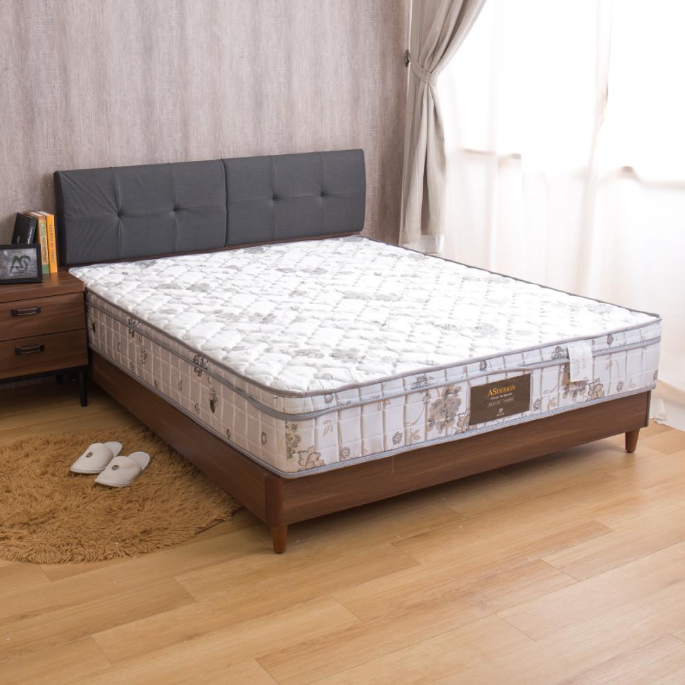 瑪莉提系列 飯店星級款-歐式緹花高回彈正三線硬式雙人加大6尺獨立筒床墊