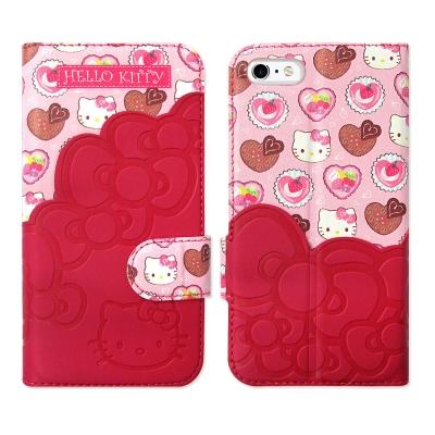 Hello Kitty iPhone 6s 4.7吋 立體拼接磁扣皮套(KT甜點...
