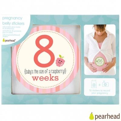 Pearhead 蔬果系列系列媽咪孕期紀念貼紙