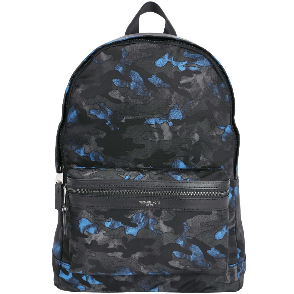 Michael Kors Kent Camouflage 迷彩尼龍後背包(黑藍色)
