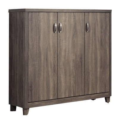 品家居 摩亞3.8尺木紋三門鞋櫃-115x40x120cm-免組