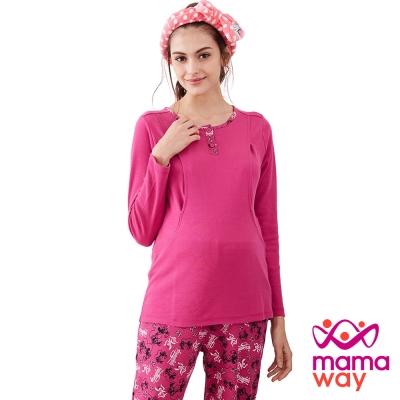 Mamaway 愛心米妮孕哺居家服組(長袖+長褲)
