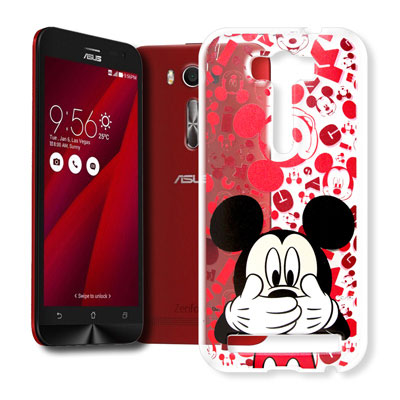 迪士尼 華碩 Zenfone 2 Laser 5.0吋 大頭透明手機軟殼(摀嘴米奇)