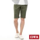 EDWIN 迦績褲 印花短褲-男-綠色