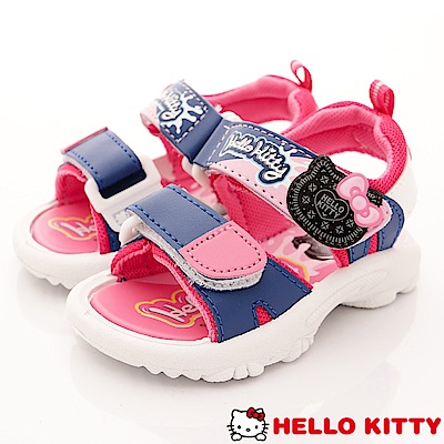 HelloKitty童鞋 巧克力餅乾涼鞋款 EI18109藍(中小童段)