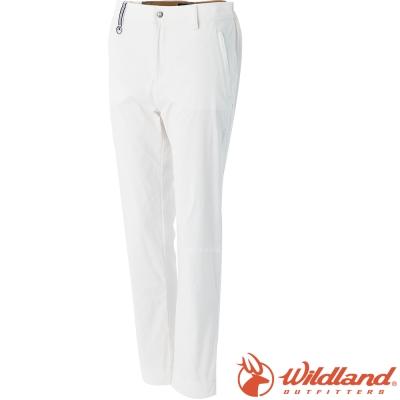 Wildland 荒野 0A51311-81米白 女 彈性透氣抗UV9分褲