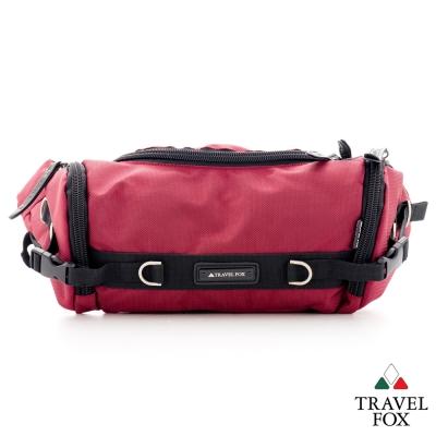 Travel-Fox旅狐-腰包-尼龍防潑水出遊休閒包-紅