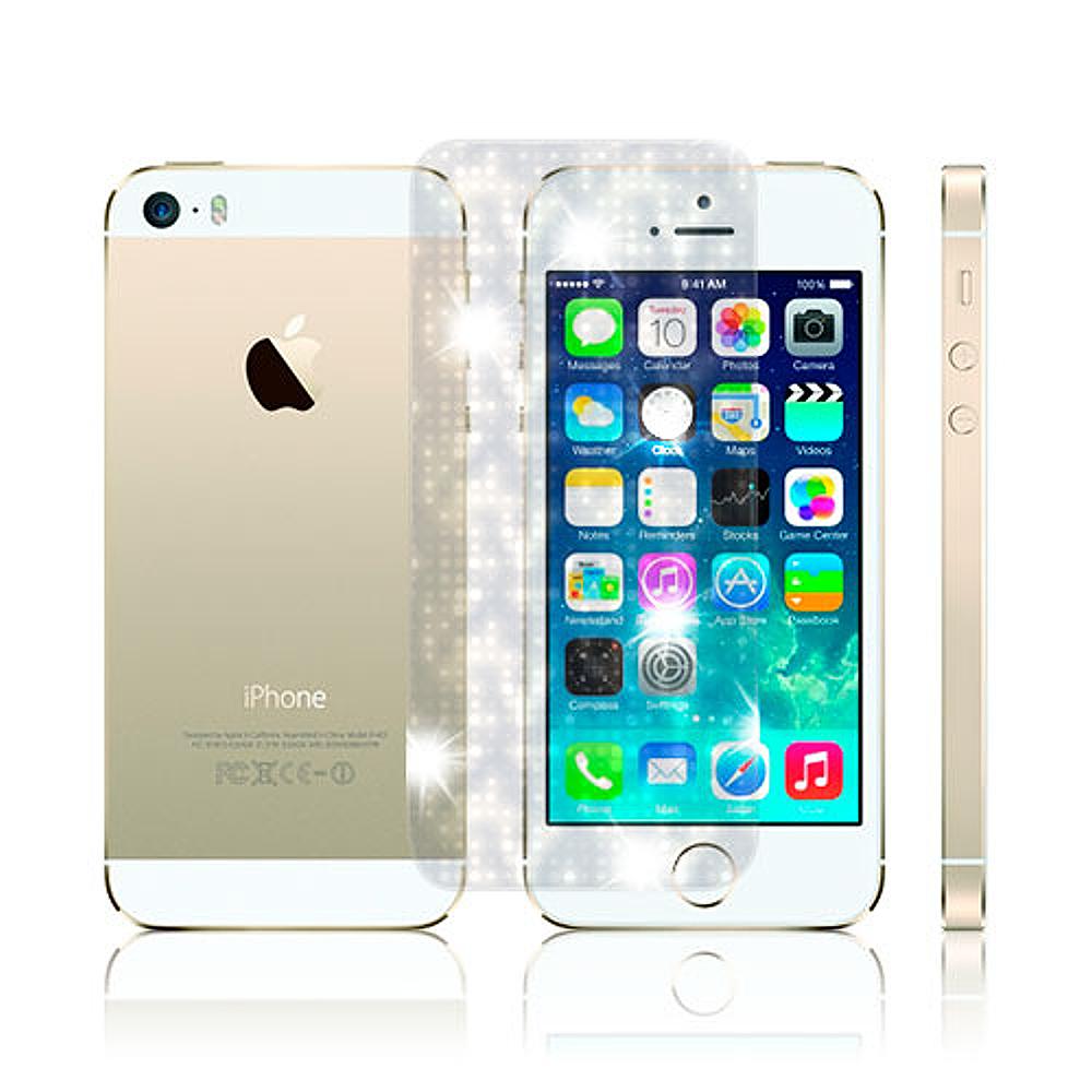 D&A 蘋果 iPhone5/5S/SEC專用日本AAA頂級螢幕保護貼(閃亮星鑽)