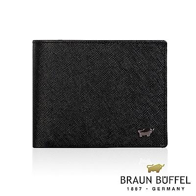 BRAUN BUFFEL - 洛非諾III系列4卡零錢皮夾 - 經典黑