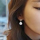 Hera 赫拉 經典玫瑰珍珠耳夾