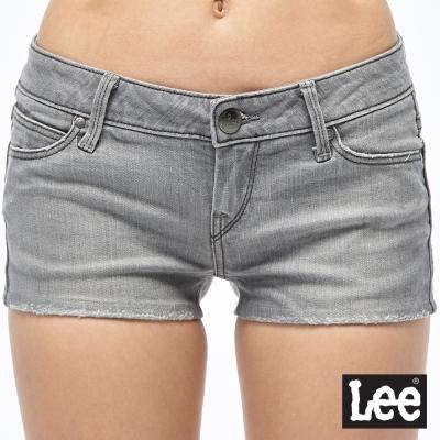 Lee 牛仔短褲 合身貓鬚牛仔短褲-女款-灰