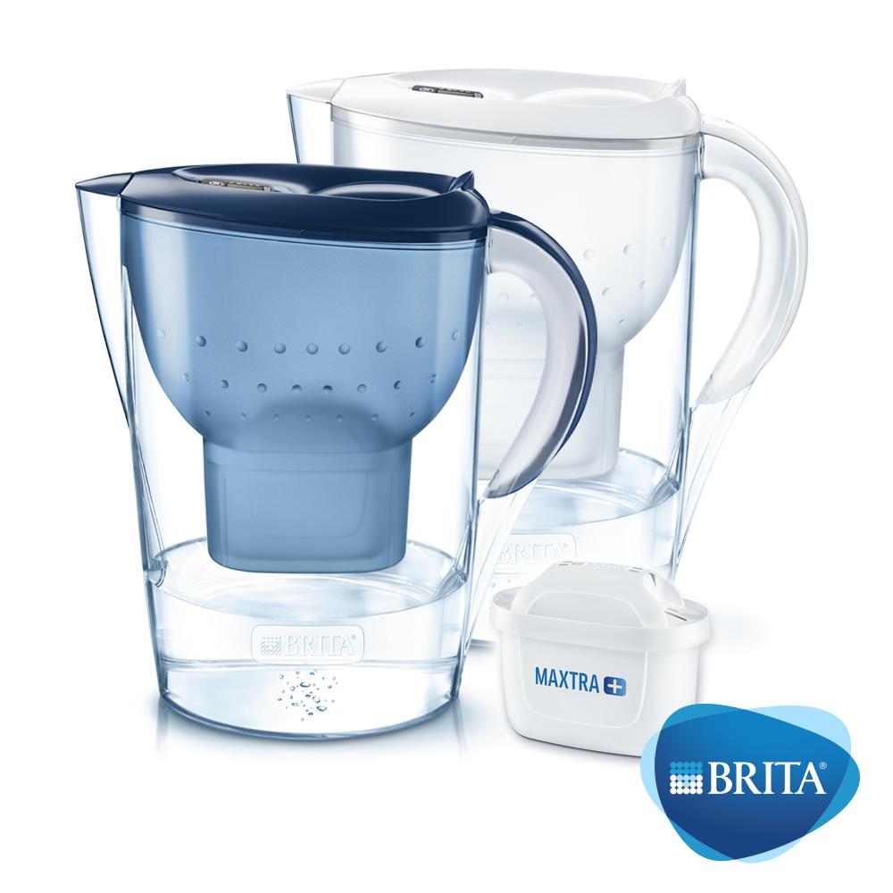 德國BRITA Marella馬利拉濾水壺+1入MAXTRA Plus濾芯(共2芯)