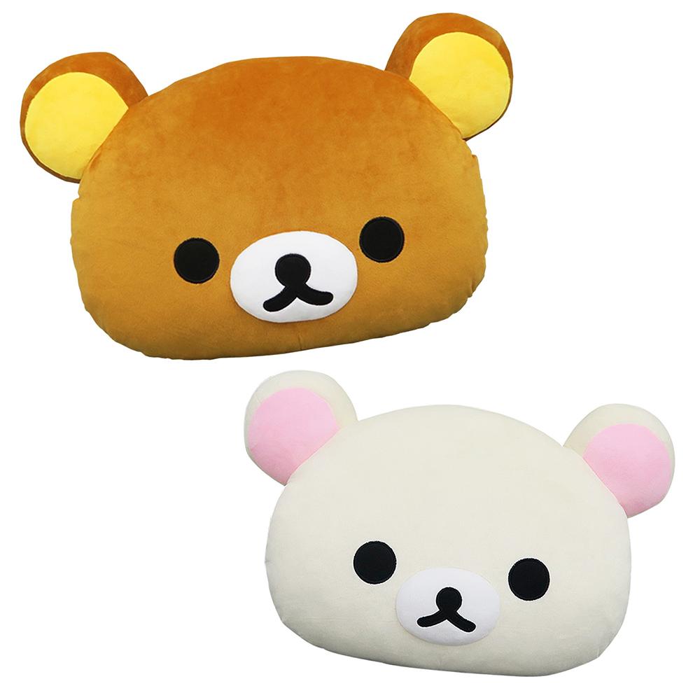 Rilakkuma拉拉熊 18吋暖手枕 (棕)(白)