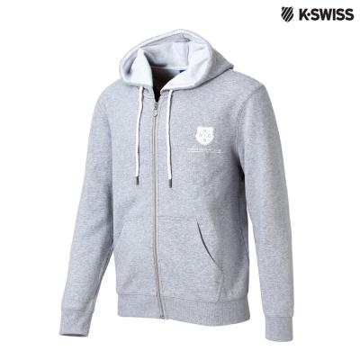 K-Swiss SRC Hoodie Jacket休閒連帽外套-男-灰