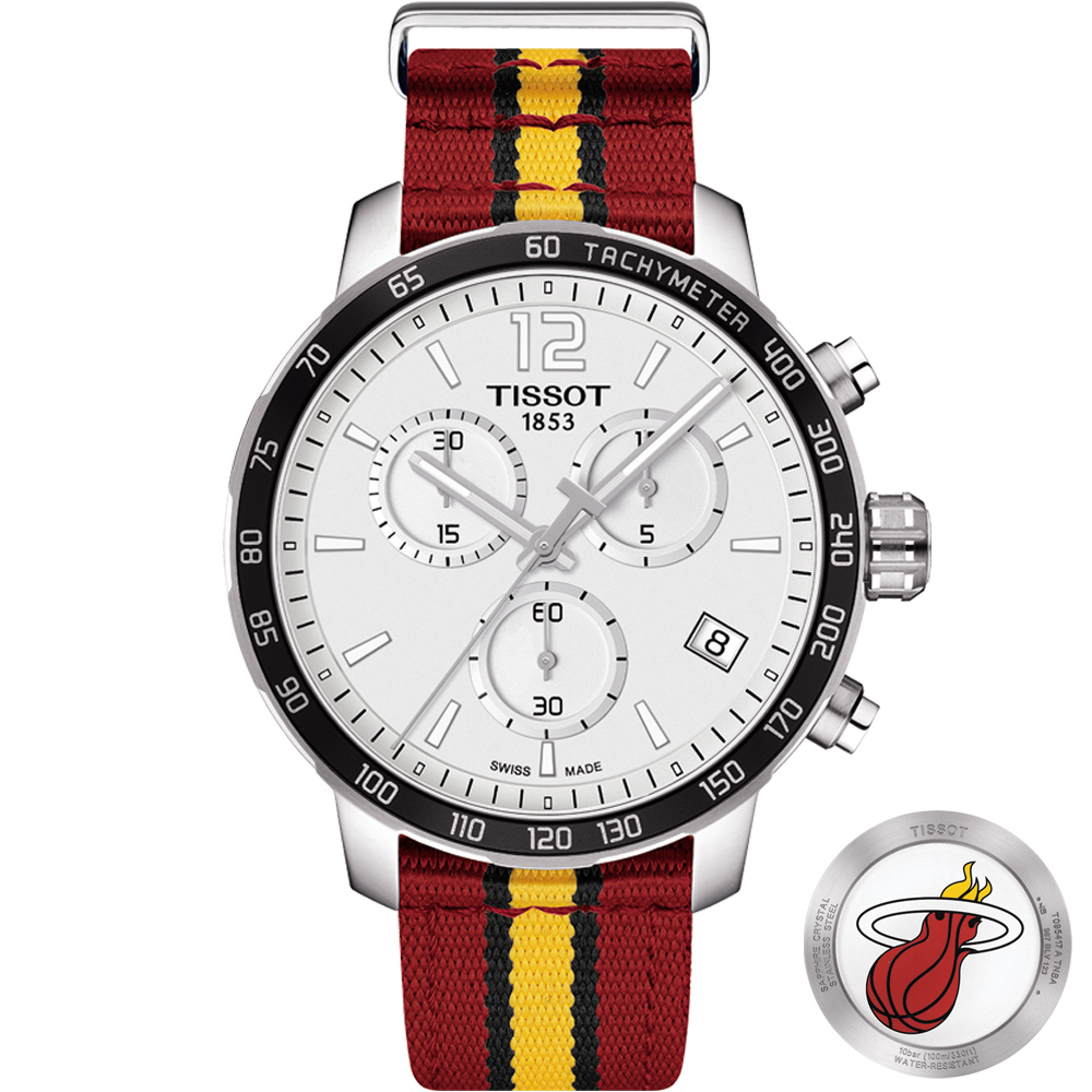 TISSOT 天梭 X NBA 邁阿密熱火隊特別版腕錶-42mm @ Y!購物