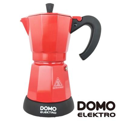 比利時DOMO-電熱式經典摩卡壺DM413KT-紅