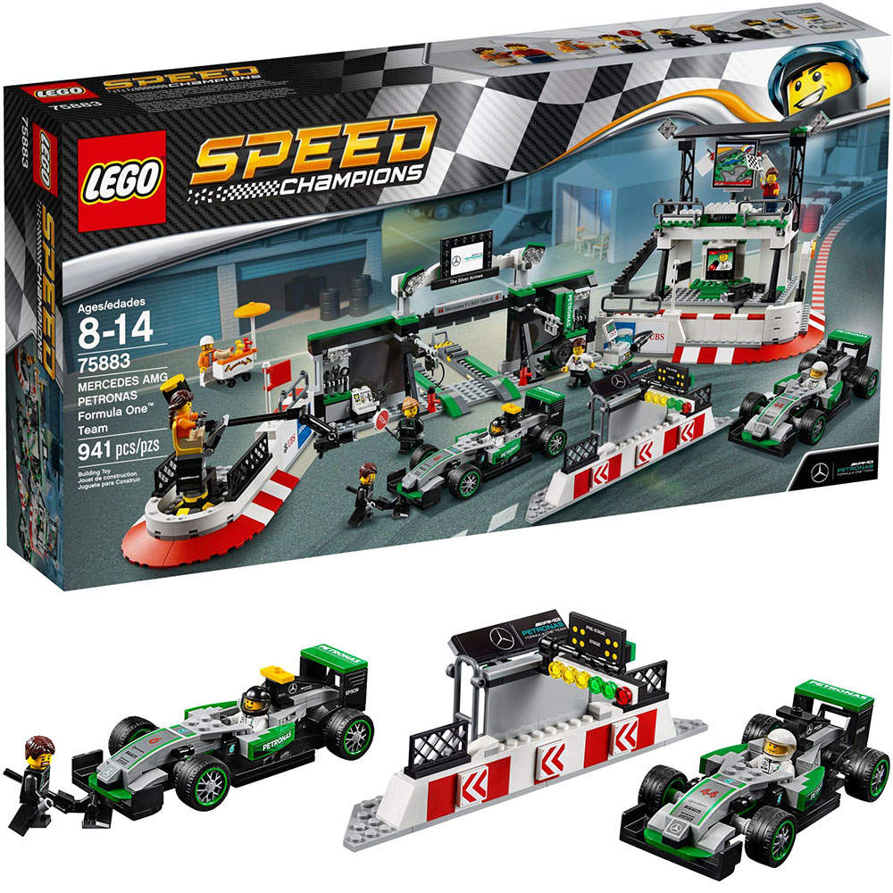 LEGO樂高賽車系列75883一級方程式賽車賓士AMG國油車隊