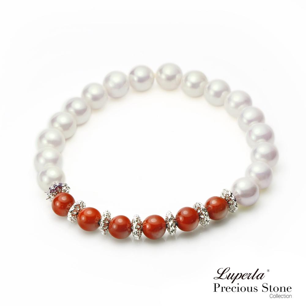大東山珠寶   南洋貝珍珠晶漾嫣紅寶石手鍊