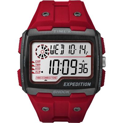TIMEX 遠征突襲電子運動腕錶-紅/50X42mm