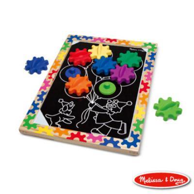 美國瑪莉莎 Melissa & Doug 10面磁力齒輪遊戲板