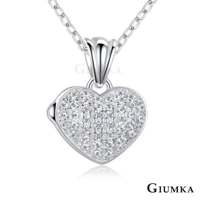GIUMKA 925純銀項鍊愛心女鏈 唯一愛戀