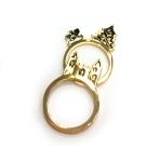 迪士尼 DISNEY COUTURE 灰姑娘 城堡X森林 金色戒指 2個一組