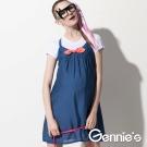 【Gennie's奇妮】甜美細肩帶春夏孕婦背心洋裝(G1521)