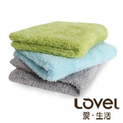 LOVEL 7倍強效吸水抗菌超細纖維方巾3入組(共9色)