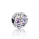 Pandora 潘朵拉 圓形紫色宇宙行星鋯石 純銀墜飾 串珠