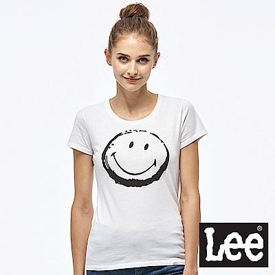 LEE x SMILY聯名短袖圓領TEE-女款-白