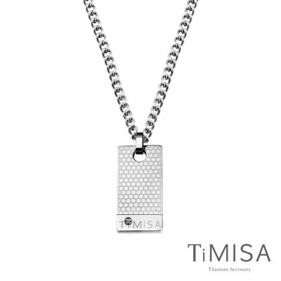 TiMISA《宣言(S)》軍牌純鈦項鍊(M02D)