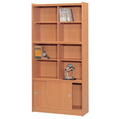 時尚屋 豪豐3x6尺玻璃拉門書櫃 寬90cm 多色可選-免組