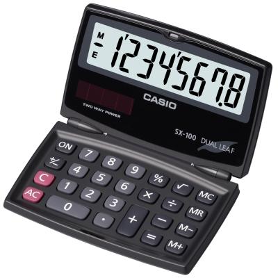 CASIO 卡西歐 (國家考試專用)8位數摺疊攜帶型計算機SX-100