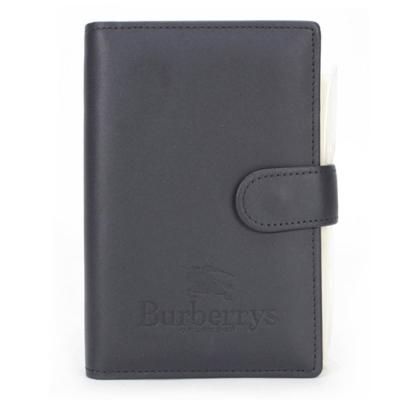 BURBERRY年度限量戰馬LOGO皮革手帳冊-深藍色