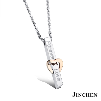 JINCHEN 白鋼一生一世 情侶項鍊