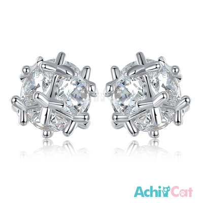 AchiCat 耳環耳針式 閃耀繡球