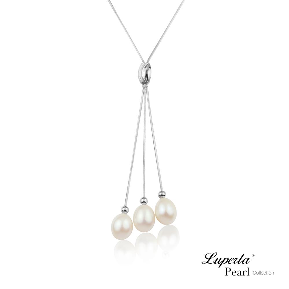 大東山珠寶 淡水珍珠純銀晶鑽墬飾 翡麗佳人