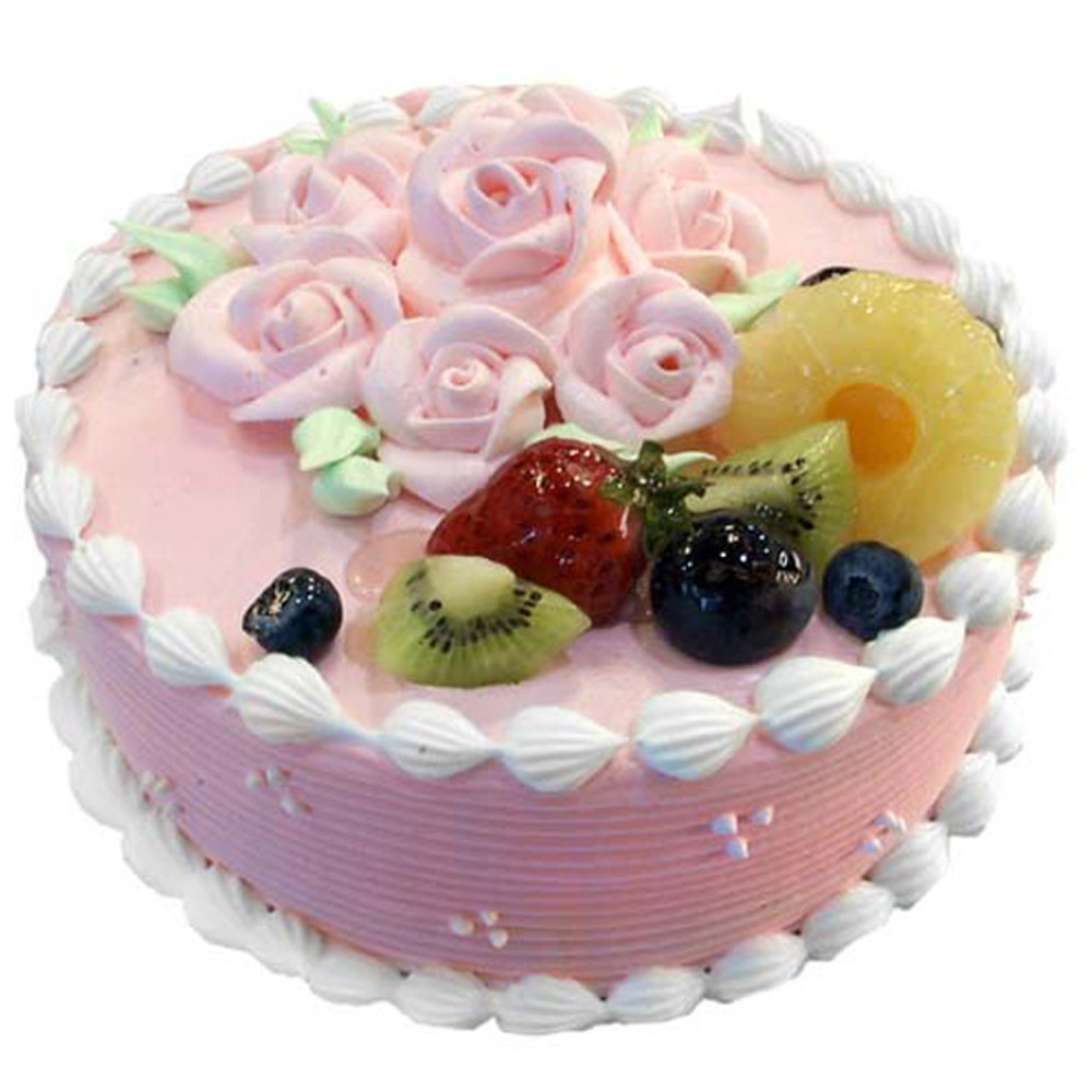 【台灣鑫鮮】粉紅花漾草莓蛋糕5吋
