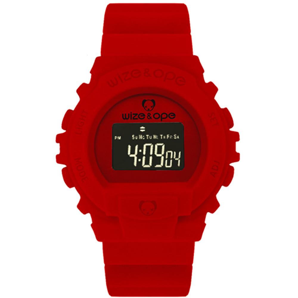 Wize&Ope - 天際探險造型錶-紅/45mm