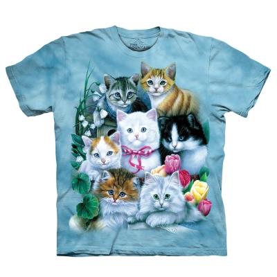 摩達客-美國進口The Mountain貓兒群 純棉環保短袖T恤