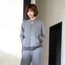 寬庭行旅-貝加爾-外套款兩件式家居服(麻花灰色)-附收納袋
