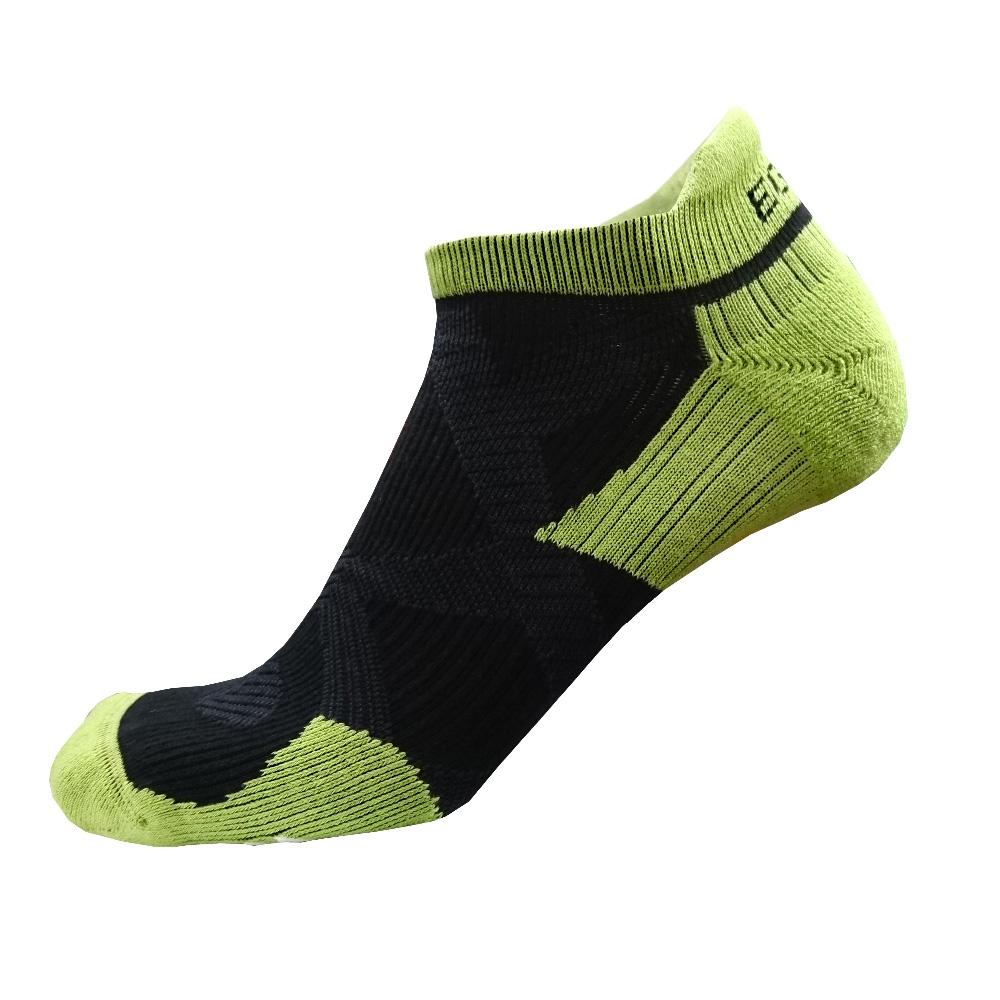 EGXtech 2X強化穩定壓縮踝襪(黑綠)超值2雙組