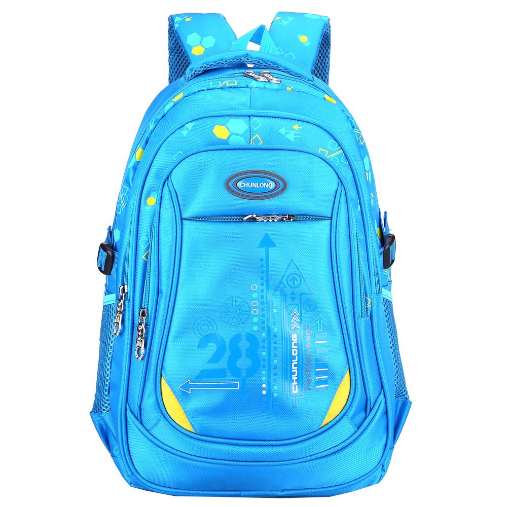DF 童趣館 中年級防潑水護脊肩帶加厚雙肩後背書包-共3色