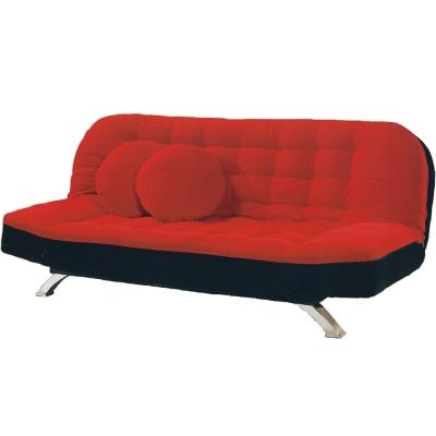 AS-斯朵黑紅雙色沙發床