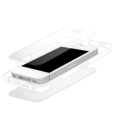iPhone 4S 全機纖薄無重感抗刮保護膜(絲絨霧機背貼+絲絨霧螢幕貼+邊膜)...