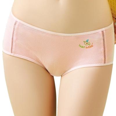 思薇爾  惹萌漾學院風系列M-XL素面中低腰平口內褲(魔法粉)