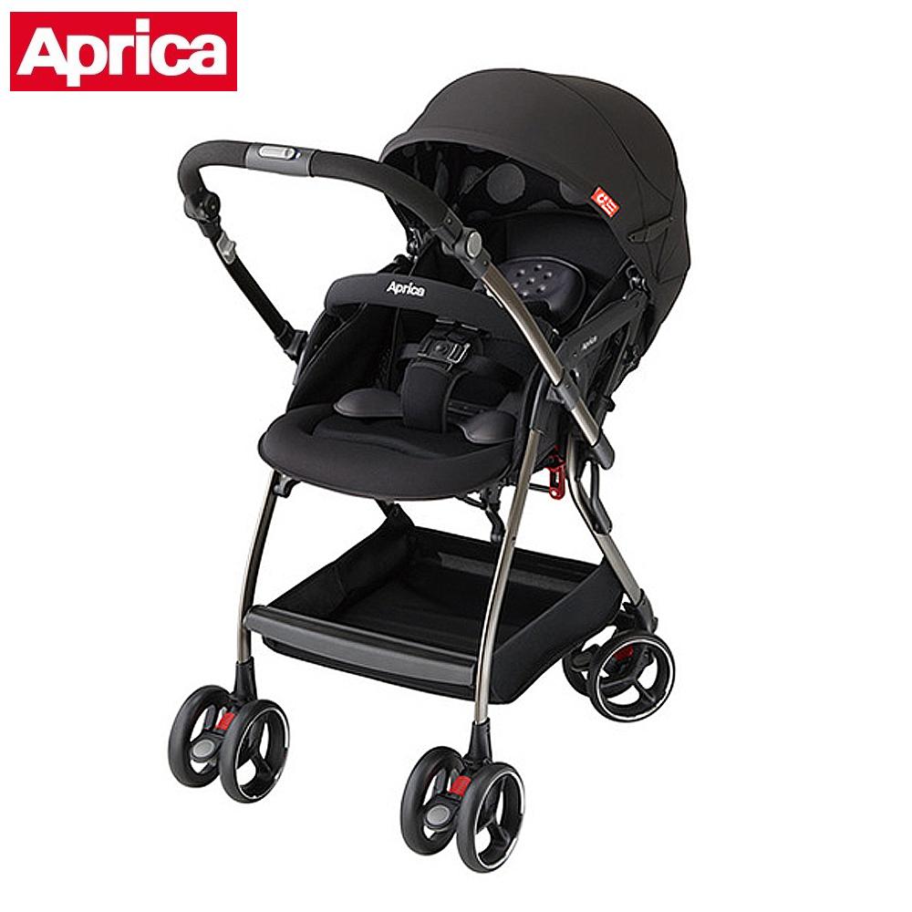 Aprica 四輪自動定位導向型嬰幼兒手推車 Optia新視野 酷點黑 @ Y!購物
