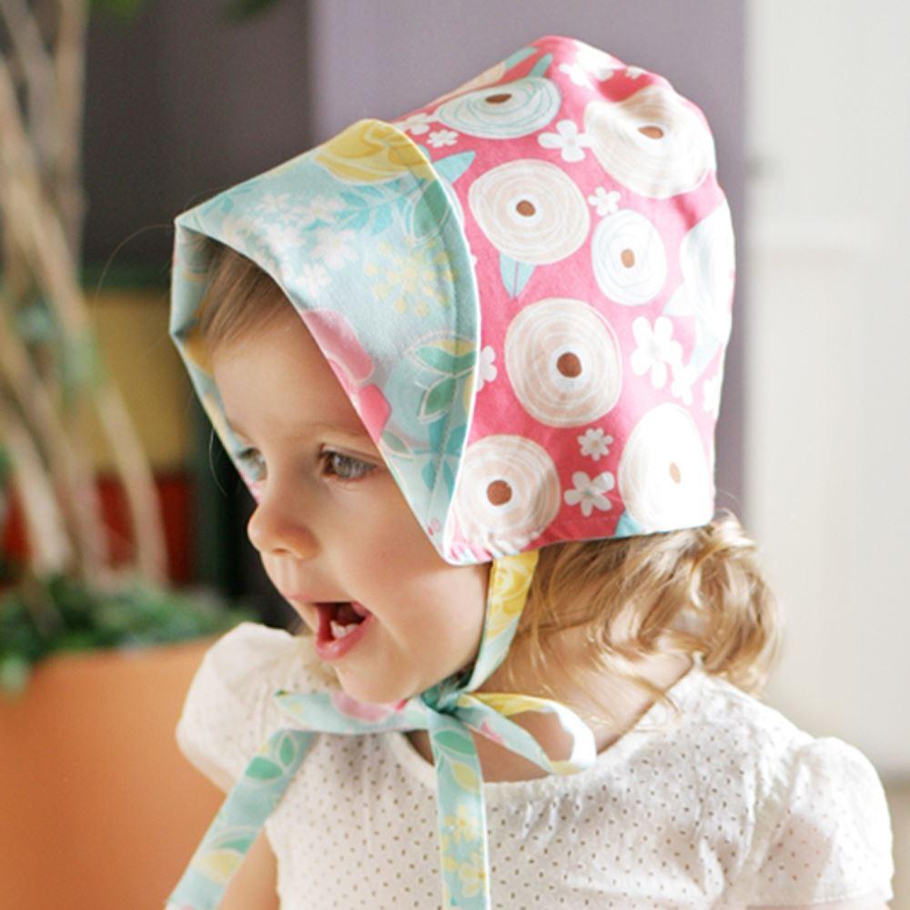 Kinderspel 雙面穿戴_輕柔童話花帽(可愛桃藍)