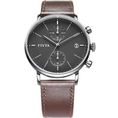 FIYTA飛亞達 卓雅系列多功能石英錶款(WG800002.WHR)-黑色/42mm